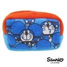 【日本進口正版】哆啦a夢 DORAEMON 滿版款 棉質 長型 收納包 零錢包 小叮噹 三麗鷗 - 430153