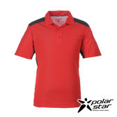 PolarStar 男 涼感銀離子短袖POLO衫『紅』P17173 吸濕排汗│商務休閒服│短袖透氣運動服│涼感衣