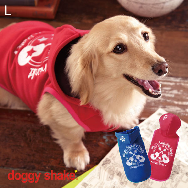 日本《Doggy Shake》音樂帽T L 狗狗發熱衣 狗衣服 冬衣