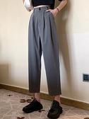 哈倫褲 早秋季韓版高腰顯瘦九分闊腿褲子百搭寬鬆西裝休閒哈倫褲女裝薄款  芊墨左岸 上新