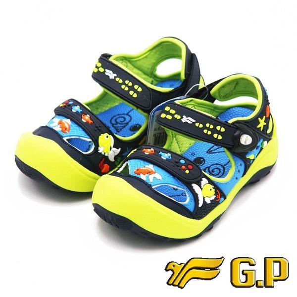 【G.P】快樂護趾童涼鞋 童鞋-藍綠(另有橘、紫)