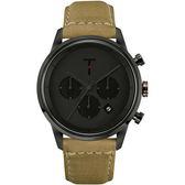 【台南 時代鐘錶 TYLOR】自由探索精神 風格多變三眼計時腕錶 TLAC007 皮帶 43mm