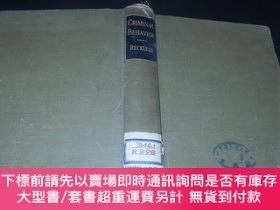 二手書博民逛書店《CRIMINAL罕見BEHAVIOR犯罪行為》1940年英文原版精裝本Y354 WALTER.C.RECKL