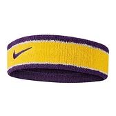 Nike NBA Headband [N1000535747OS] 男女 頭帶 簡約 運動 休閒 毛巾 吸汗 湖人 黃紫