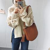 梨卡 - 秋冬氣質甜美純色高領顯瘦保暖側開叉長袖毛衣針織衫上衣BR151