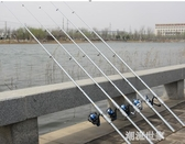 海竿套裝釣魚竿超硬拋竿清倉甩桿遠投竿海桿全套組合漁具釣桿QM『摩登大道』
