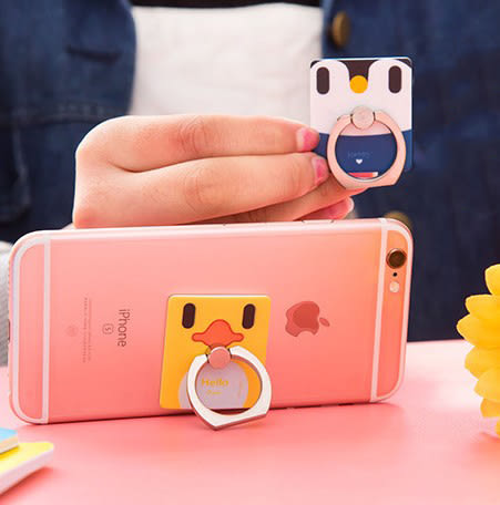 【卡通指環】黏貼式指環支架 手機平板懶人手機座 可愛動物造型手機架 360度旋轉☆☆