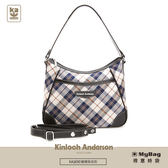 Kinloch Anderson 金安德森 手提包 謎樣貝克街 經典格紋 側肩背彎月包 黑色 KA165001 得意時袋