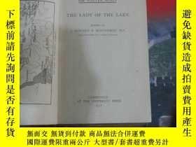 二手書博民逛書店1917年出版《the罕見lady of the lake》Y8