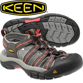 【KEEN 美國 NEWPORT H2女款 護趾涼鞋〈深灰/橘紅〉】1010955/護趾涼鞋/水陸兩用鞋/休閒涼鞋