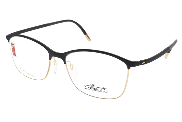 SILHOUETTE 詩樂 光學眼鏡 ST1575 6050 (黑-金) 奧地利超輕量工藝款 # 金橘眼鏡