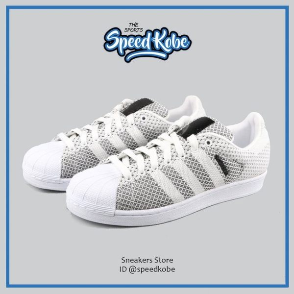 ADIDAS ORIGINALS SuperStar Weave 灰白 編織 黑標 S79441 ☆SP☆