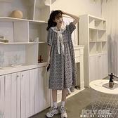 長洋裝 法式復古泡泡袖洋裝女夏季2021新款韓版氣質中長款高腰碎花裙子 夏季狂歡