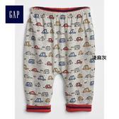Gap男嬰兒 兩面穿鬆緊腰針織長褲 374382-淺麻灰