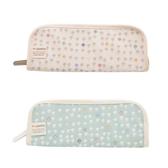 日本 Hoppetta 蘑菇餐具袋 白/藍 總公司代理貨