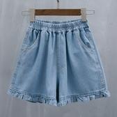 牛仔短褲加肥加大碼女裝新款牛仔女短褲2020夏裝寬鬆顯瘦休閒闊腿薄款熱褲伊蘿 雙11 伊蘿