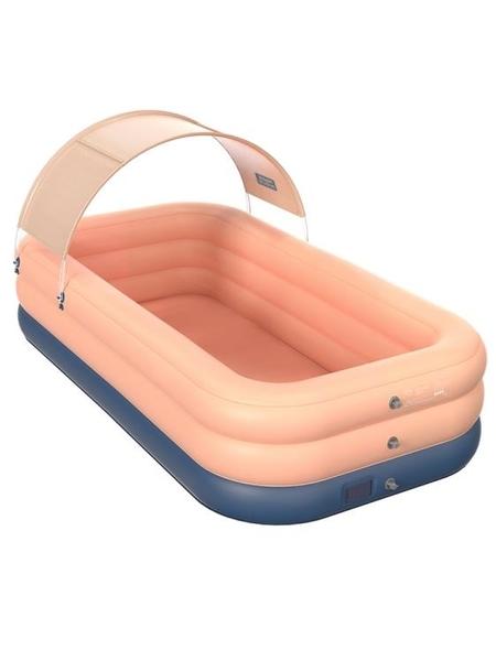 充氣泳池 兒童游泳池充氣加厚嬰兒家用游泳桶折疊家庭寶寶小孩超大戶外大型 WW