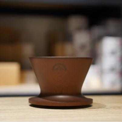 【沐湛咖啡】安清式木製濾杯 原木/咖啡/黑 水平式肋骨 1-2人 山中漆器