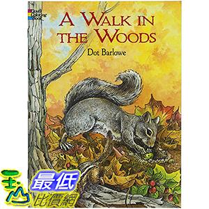 [106美國直購] 2017美國暢銷兒童書 A Walk in the Woods (Dover Nature Coloring Book) Paperback