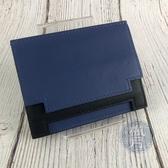 BRAND楓月 HERMES 愛馬仕 C刻 藍色x黑色 雙色 MULTIPLIS 卡夾 名片夾