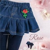 【封館5折】俏麗裙擺~小紅玫瑰牛仔棉褲裙(280308)