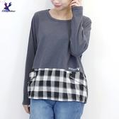 【秋冬新品】American Bluedeer - 格紋剪接上衣 二色