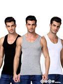 男士背心純棉運動潮牌白跨欄修身型大碼無袖t恤青年夏季打底健身 西城故事
