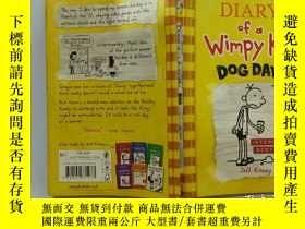 二手書博民逛書店Diary罕見of a wimpy kid Dog Days:一個懦弱的孩子的日記Y200392
