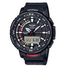CASIO PRO TREK系列 藍芽連接多功能釣魚錶(PRT-B70-1)-黑x57mm