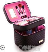 大容量韓國化妝包可愛小號方品中袋隨身便攜手提收納盒簡約化妝箱   草莓妞妞