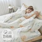 #B191#100%天然極致純棉3.5x6.2尺單人床包+枕套二件組(不含被套)*台灣製 床單