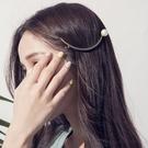 Qmigirl 韓版氣質珍珠金屬月牙形髮夾 【QG2075】