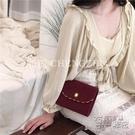 【橙梔】回饋款麂皮絨珍珠裝飾金邊晚宴包手提單肩斜挎復古女包 衣櫥秘密