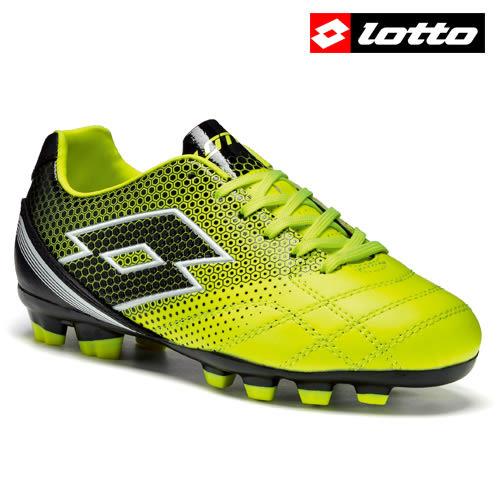 【LOTTO】SPIDER 700 XIII FGT 義大利進口兒童專業足球釘鞋 - 黑黃
