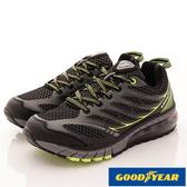 【GOODYEAR】黑曜之星氣墊跑鞋-GAMR73375-黑綠-男段-0