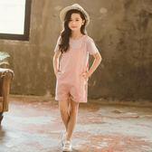 女童夏季吊帶褲套裝兒童裝2019新款洋氣時髦夏裝中大童小女孩短褲 童趣
