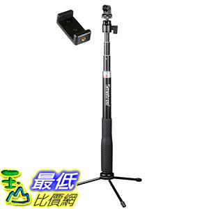 [106美國直購] 自拍棒 腳架 Smatree SmaPole Q3 Telescoping Selfie Stick with Tripod Stand