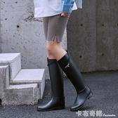 夏季雨鞋女時尚款外穿馬靴雨靴高筒水靴長筒女士水鞋防水防滑套鞋 雙十二全館免運