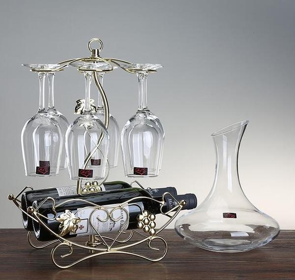 紅酒架創意倒掛紅酒杯架葡萄酒架子歐式酒瓶架酒架紅酒杯家用套裝 暖心生活館