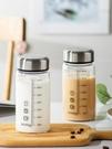 咖啡杯牛奶杯家用便攜外帶學生豆漿杯玻璃帶蓋微波刻度水瓶咖啡早餐杯子 寶貝寶貝計畫 上新