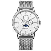 RHYTHM 日本麗聲 都會時尚日月相日期手錶-42mm FI1608S01