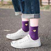 (交換禮物)5雙ins襪子女中筒襪韓版學院風日系可愛純棉堆堆襪韓國春秋百搭薄