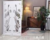屏風隔斷玄關時尚客廳簡約現代折疊裝飾雕花房間臥室辦公酒店中式QM『艾麗花園』