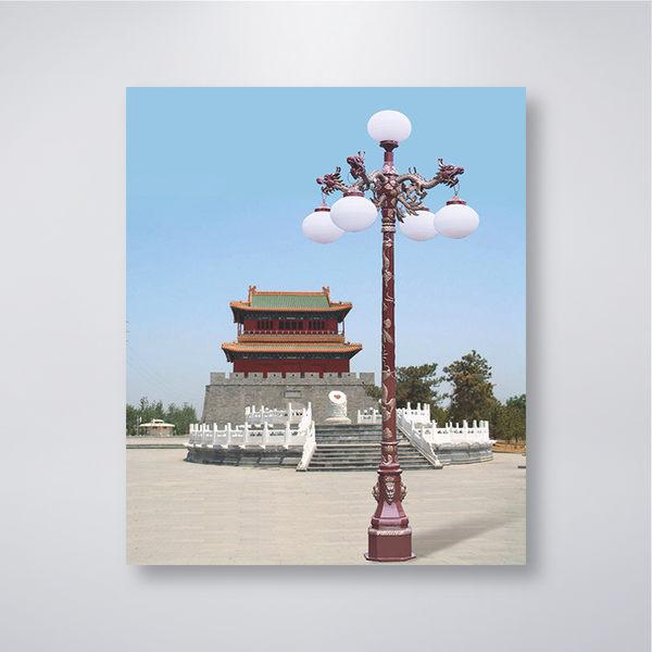 中國風戶外庭園燈 五燈防水型 可客製化 可搭配LED