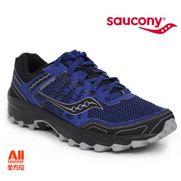 【Saucony】男款慢跑鞋 GRID EXCURSION TR 12 戶外越野 -黑混藍(204513)全方位跑步概念館