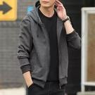 大尺碼外套 加絨連帽運動衫男士韓版潮流寬鬆長袖上衣服加肥加大碼休閒開衫外套