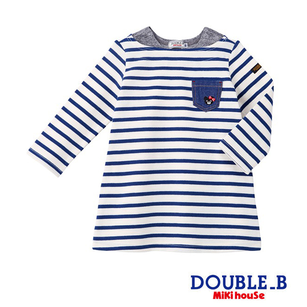 DOUBLE_B Every day 黑熊妹經典條紋洋裝