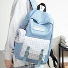 後背包 雙肩包女士背包休閑大容量電腦旅行包高中初中學生書包女時尚潮流 交換禮物