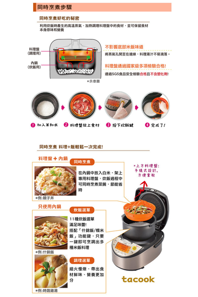 TIGER 虎牌 高火力IH 10人份多功能炊飯電子鍋 JKT-S18R
