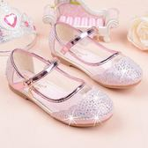 兒童單鞋時尚水鑽中大小女童皮鞋寶寶公主鞋  居家物語